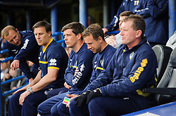 Manager Darrell Clarke (ENG) of Bristol Rovers looks on at the start of the match - Photo mandatory by-line: Rogan Thomson/JMP - 07966 386802 - 19/04/2014 - SPORT - FOOTBALL - Fratton Park, Portsmouth - Portsmouth FC v Bristol Rovers - Sky Bet Football League 2.