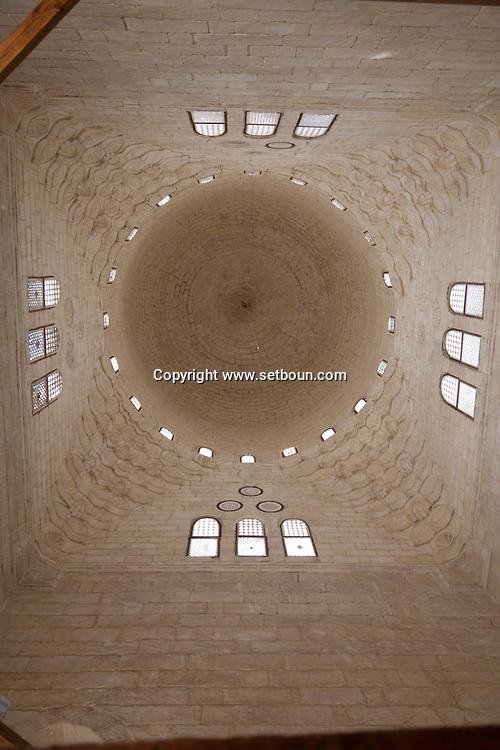 Egypt . Cairo : SULTAN AL Muyyad - Mu'ayyad - mosque - the Dome of the mausoleum , inside - in Bab Zuwayla area. old islamic cairo  +