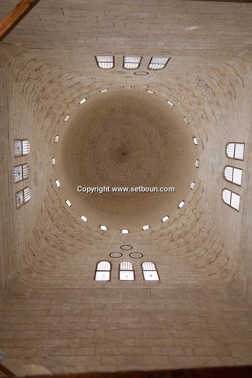 Egypt . Cairo : SULTAN AL Muyyad - Mu'ayyad - mosque - the Dome of the mausoleum , inside - in Bab Zuwayla area. old islamic cairo  +