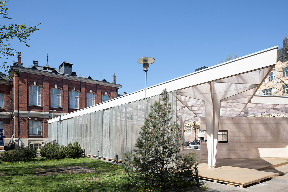 Paviljonki - Wooden pavilion for 2012 World design capital events in Helsinki, Finland