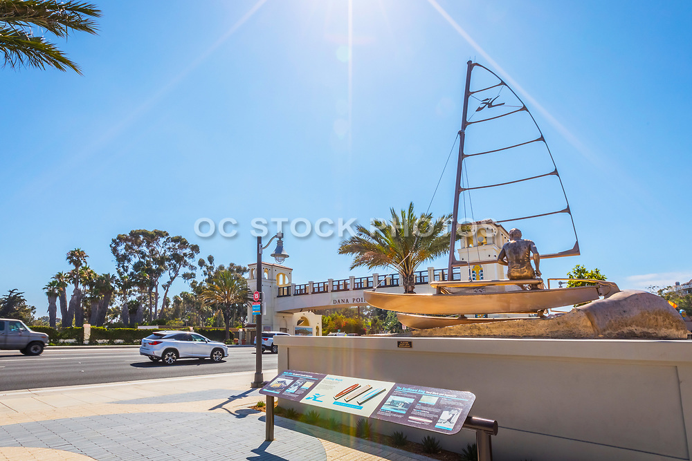 Hobie Alter Memorial Foundation Sculpture in the New South Cove Community on Pacific Coast Highway in Dana Point