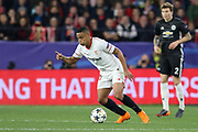 Sevilla forward Luis Muriel (20) during the Champions League match between Sevilla and Manchester United at the Ramon Sanchez Pizjuan Stadium, Seville, Spain on 21 February 2018. Picture by Phil Duncan.