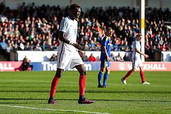 Tammy Abraham of England U21 looks on - Rogan Thomson/JMP - 11/10/2016 - FOOTBALL - Bescot Stadium - Walsall, England - England U21 v Bosnia and Herzegovina - UEFA European Under 21 Championship Qualifying.