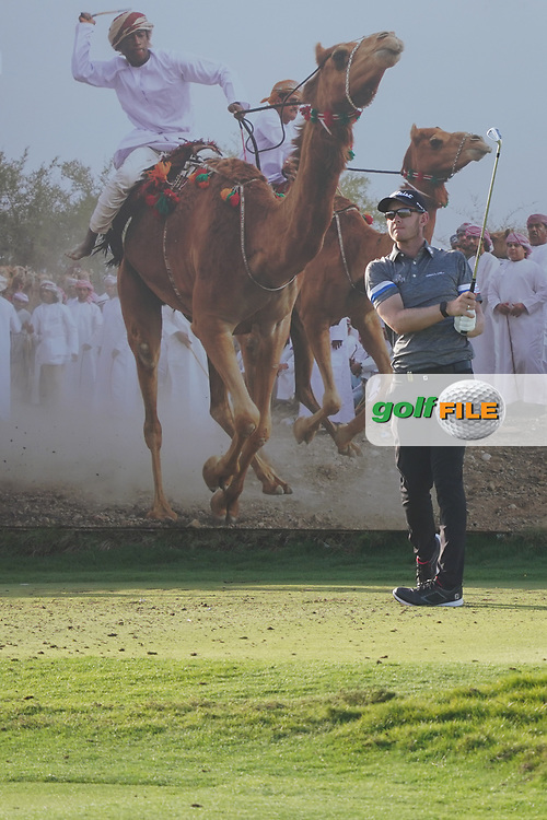 Joachim B. Hansen (DEN) on the 8th during Round 2 of the Oman Open 2020 at the Al Mouj Golf Club, Muscat, Oman . 28/02/2020<br /> Picture: Golffile   Thos Caffrey<br /> <br /> <br /> All photo usage must carry mandatory copyright credit (© Golffile   Thos Caffrey)