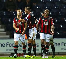 Marc Pugh of Bournemouth celebrates after scoring his sides second goal - Mandatory byline: Matt McNulty/JMP - 07966386802 - 22/09/2015 - FOOTBALL - Deepdale Stadium -Preston,England - Preston North End v Bournemouth - Capital One Cup - Third Round