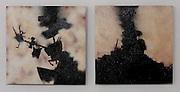 Spite and Malice, painting by Ryan Nygard. Acrylic, spray paint, Masonite.