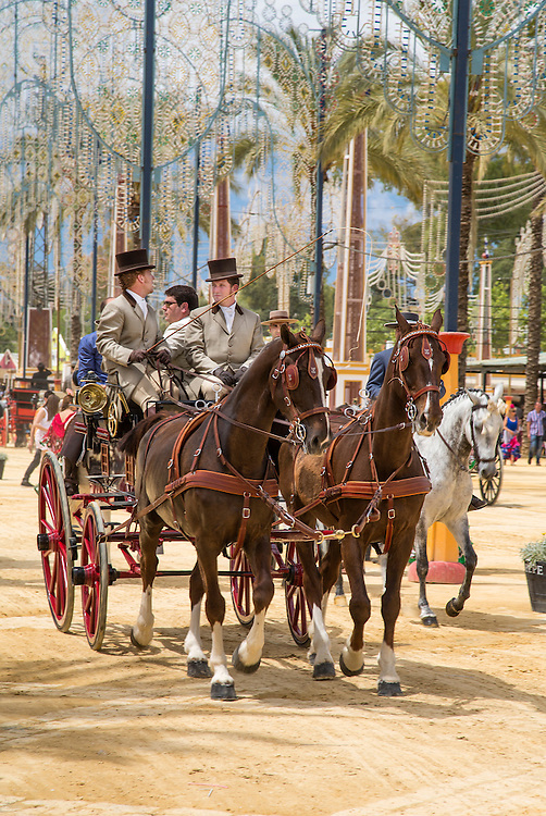 A scene at the Feria Del Caballo in Jerez Spain
