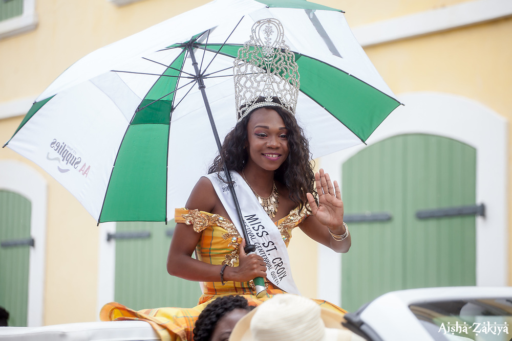 MIss St. Croix 2016.  Carnival 2017 Adults' Parade.  Charlotte Amalie.  St. Thomas, USVI.  29 April 2017.  © Aisha-Zakiya Boyd