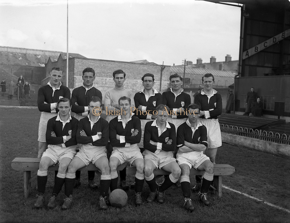 27/20/1954<br /> 02/27/1954<br /> 27 Feburary 1954<br /> Soccer: Bohemians F.C. v Albert Rovers F.C., FAI Cup game at Dalymount Park. The game ended in a draw.<br /> The Bohemians team.
