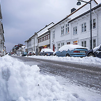 Finaly snow in Kristiansand for real.