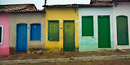 LENCOIS, BRAZIL - NOVEMBER 21:  Colorful houses line the streets of the town of Lencois, Brazil on November 21, 2004.   Lencois is a town where many of Brazil's artists come to find inspiration.  The beautiful mountain setting also attracts many tourists.