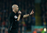Football - 2019 / 2020 Premier League - Liverpool vs. Wolverhampton Wanderers<br /> <br /> A controversial game for referee Anthony Taylor after two crucial VAR decisions late in the first half decided the game, at Anfield.<br /> <br /> COLORSPORT/ALAN MARTIN