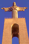 PORTUGAL, LISBON 'Christ in Majesty'; 279' tall figure rising above the south bank of the Tagus River