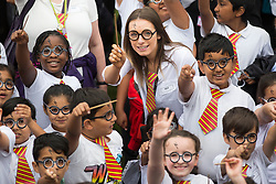 © Licensed to London News Pictures. 23/06/2017. Bolton UK. An attempt to break the world record for the largest gathering of people dressed as Harry Potter is taking place this morning at Smithhills Hall in Bolton. Bolton Museum & Library Services along with eleven local schools are coming together to try & break the record. Photo credit: Andrew McCaren/LNP