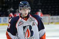 KELOWNA, CANADA, OCTOBER 29: Austin Madiasky #23 of the Kamloops Blazers warms up on the ice as the Kamloops Blazers visit the Kelowna Rockets  on October 29, 2011 at Prospera Place in Kelowna, British Columbia, Canada (Photo by Marissa Baecker/Shoot the Breeze) *** Local Caption *** Austin Madiasky;