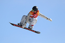 USA's Jamie Anderson in the Ladies' Slopestyle Snowboard Final during day three of the PyeongChang 2018 Winter Olympic Games in South Korea.