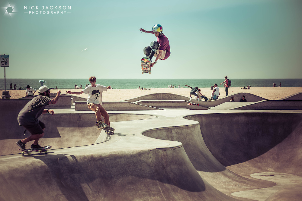 Venice Beach skateboarders, Los Angeles