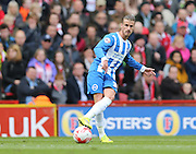 Joe Bennett during the Sky Bet Championship match between Middlesbrough and Brighton and Hove Albion at the Riverside Stadium, Middlesbrough, England on 2 May 2015.