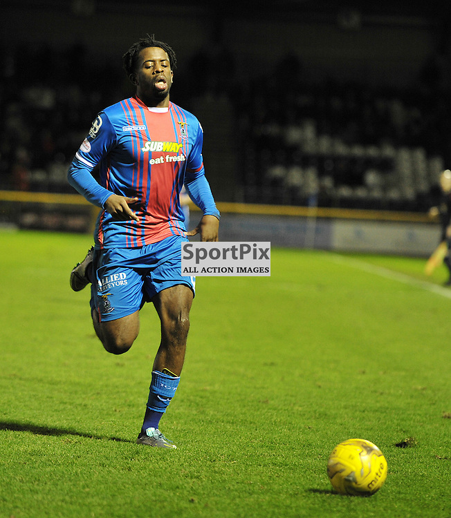 Andr&eacute;a Mbuyi-Mutombo (ICT, Blue &amp; Red) <br /> <br /> Inverness Caledonian Thistle v Ross County, Ladbroke's Premiership, Saturday 2nd January 2016<br /> <br /> (c) Alex Todd | SportPix.org.uk