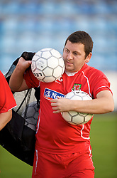PODGORICA, MONTENEGRO - Tuesday, August 11, 2009: Wales' equipment manager David Griffiths during a training session at the Gradski Stadion ahead of the international friendly match against Montenegro. (Photo by David Rawcliffe/Propaganda)
