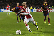 Onderwerp/Subject: Ajax - FC Barcelona - Champions League<br /> Reklame:  <br /> Club/Team/Country: <br /> Seizoen/Season: 2013/2014<br /> FOTO/PHOTO: Nicolai BOILESEN ( Nicolai Moller BOILESEN ) (R) of Ajax in duel with PIQUE ( Gerard Pique I BERNABEU ) (L) of FC Barcelona. (Photo by PICS UNITED)<br /> <br /> Trefwoorden/Keywords: <br /> #04 $94 &plusmn;1377840750319<br /> Photo- &amp; Copyrights &copy; PICS UNITED <br /> P.O. Box 7164 - 5605 BE  EINDHOVEN (THE NETHERLANDS) <br /> Phone +31 (0)40 296 28 00 <br /> Fax +31 (0) 40 248 47 43 <br /> http://www.pics-united.com <br /> e-mail : sales@pics-united.com (If you would like to raise any issues regarding any aspects of products / service of PICS UNITED) or <br /> e-mail : sales@pics-united.com   <br /> <br /> ATTENTIE: <br /> Publicatie ook bij aanbieding door derden is slechts toegestaan na verkregen toestemming van Pics United. <br /> VOLLEDIGE NAAMSVERMELDING IS VERPLICHT! (&copy; PICS UNITED/Naam Fotograaf, zie veld 4 van de bestandsinfo 'credits') <br /> ATTENTION:  <br /> &copy; Pics United. Reproduction/publication of this photo by any parties is only permitted after authorisation is sought and obtained from  PICS UNITED- THE NETHERLANDS