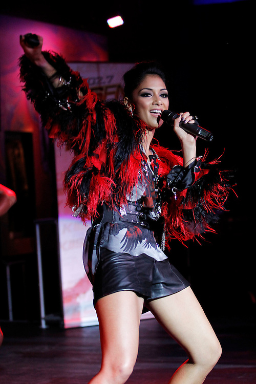 102.7 KIIS FM presents Nicole Scherzinger for a free show at the Hollywood Hard Cafe in Hollywood, Calif., on Wednesday, August 3, 2011. At the beginning of the show Nicole donated one of her outfits to the Hard Rock Cafe.