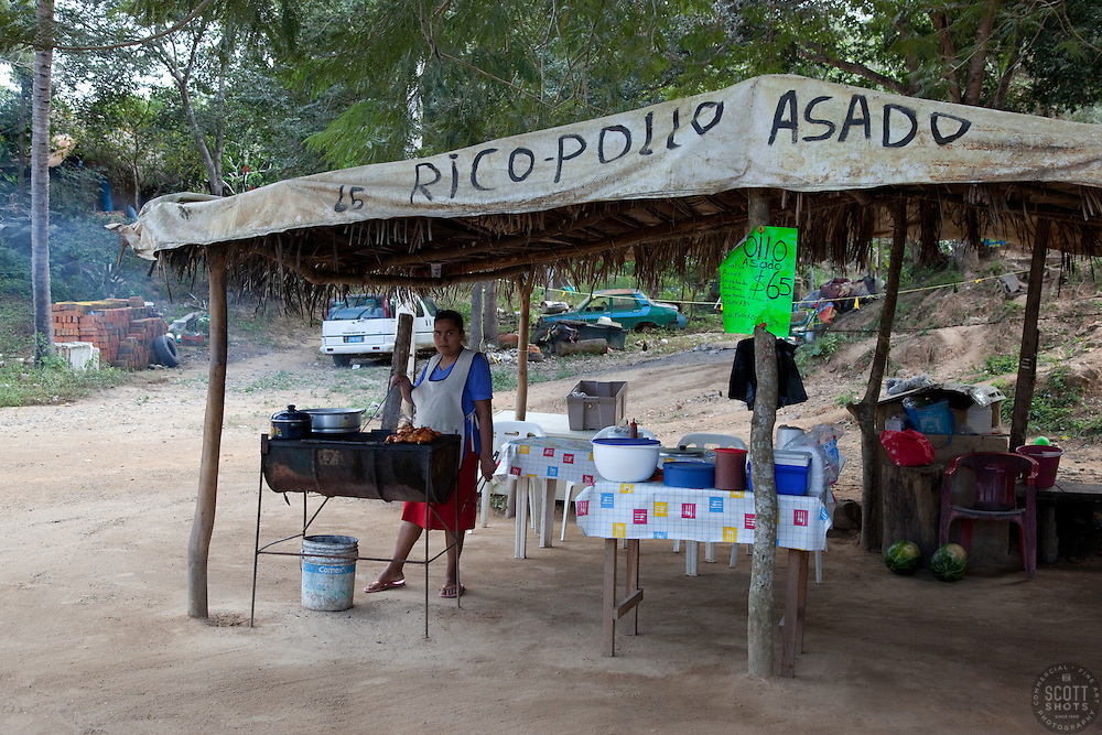 """Rico-Pollo Asado"" - This little chicken stand was photographed near Puerto Vallarta, Mexico."