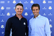 World Golf ranking # 1 and gold medalist in Rio 2016 Olympic games, ,Justin Rose and President of OCOG Paris 2024, Tony Estanguet during the Ryder Cup 2018, at Golf National in Saint-Quentin-en-Yvelines, France, September 26, 2018 - Photo Philippe Millereau / KMSP / ProSportsImages / DPPI