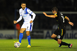 Liam Sercombe of Bristol Rovers under pressure from Jake Gray of Yeovil Town- Mandatory by-line: Nizaam Jones/JMP - 09/10/2018 - FOOTBALL - Memorial Stadium - <br /> Bristol, England - Bristol Rovers v Yeovil Town - Checkatrade Trophy