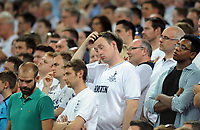 """Football - 2016 / 2017 Champions League - Group E: Tottenham Hotspur vs Monaco""""<br /> <br /> Tottenham fans scratches his head after going 2 - 0 down at Wembley Stadium<br /> <br /> <br /> Credit : Colorsport / Andrew Cowie"""
