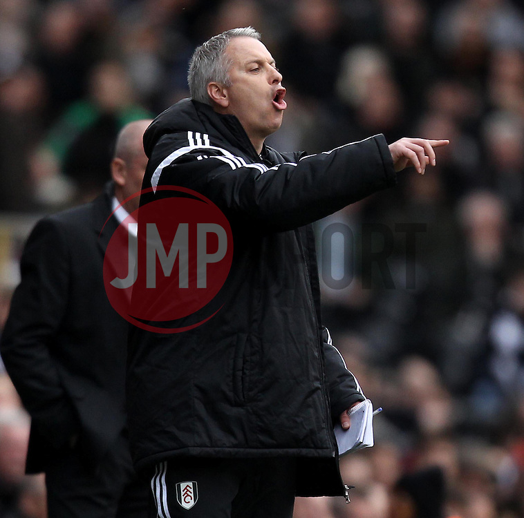Fulham Manager, Kit Symons - Photo mandatory by-line: Robbie Stephenson/JMP - Mobile: 07966 386802 - 03/04/2015 - SPORT - Football - Fulham - Craven Cottage - Fulham v Brentford - Sky Bet Championship