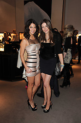 Left to right, LOHRALEE ASTOR and TALI SHINE at a party to celebrate the publication of Nathalie von Bismarck's book 'Invisible' held at Asprey, 167 New Bond Street, London on 9th December 2010.