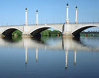 Memorial Bridge over the Connecticut River, Morning, Springfield, MA