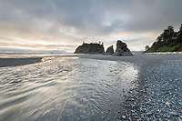 Rialto Beach at sunset Olympic National Park Washington