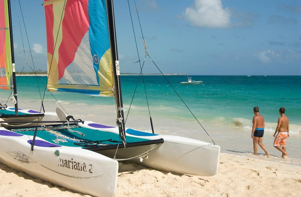 Catamarans on the beach in Punta Cana