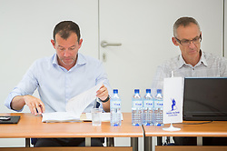 Enzo Smrekar, president of SZS and Peter Skerlj during meeting of Executive Committee of Ski Association of Slovenia (SZS) on June 9, 2014 in SZS, Ljubljana, Slovenia. Photo by Vid Ponikvar / Sportida