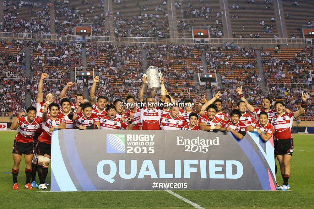 Japan team group (JPN), MAY 25, 2014 - Rugby : Asian 5 Nations Rugby match between Japan 49-8 Hong Kong at National Stadium, Tokyo, Japan. (Photo by Yohei Osada/AFLO SPORT)