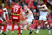 Bradford Bulls second row Evan Hodgson (35) in action  during the Kingstone Press Championship match between Dewsbury Rams and Bradford Bulls at the Tetley's Stadium, Dewsbury, United Kingdom on 10 September 2017. Photo by Simon Davies.