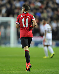 Manchester United's Adnan Januzaj wearing the number 11 shirt this season vacated by Assistant manager, Ryan Giggs- Photo mandatory by-line: Joe Meredith/JMP - Mobile: 07966 386802 26/08/2014 - SPORT - FOOTBALL - Milton Keynes - Stadium MK - Milton Keynes Dons v Manchester United - Capital One Cup