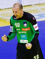 Gorazd Skof of Slovenia during handball match between Slovenia and Croatia in  2nd Round of Preliminary Round of 10th EHF European Handball Championship Serbia 2012, on January 18, 2012 in Millennium Center, Vrsac, Serbia. (Photo By Vid Ponikvar / Sportida.com)