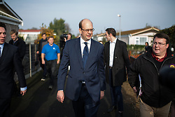 © Licensed to London News Pictures . 19/11/2014 . Kent , UK . UKIP candidate MARK RECKLESS at Hoo Marina Park in Rochester , to canvas votes . The Rochester and Strood by-election campaign following the defection of sitting MP Mark Reckless from Conservative to UKIP . Photo credit : Joel Goodman/LNP