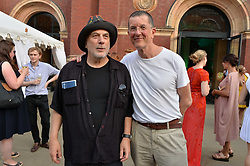 Ron Arad and Antony Gormley at the V&A Summer Party 2017 held at the Victoria & Albert Museum, London England. 21 June 2017.<br /> Photo by Dominic O'Neill/SilverHub 0203 174 1069 sales@silverhubmedia.com