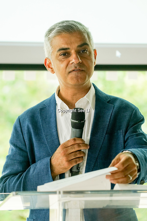London,England,UK: 3rd Sept 2016: Sadiq Khan attend the National Paralympic Day and Liberty Festival at the Queen Elizabeth Olympic Park, UK. Photo by See Li/Picture Capital