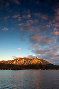 A layer of altocumulus stretches across the sky above Mount Si, a 4,167-foot (1,270 meter) mountain in North Bend, Washington. Mount Si is a remnant of an oceanic plate volcano and lies at the western edge of the Cascade Range of mountains.