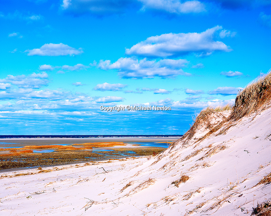 Dennis  Cape Cod, Chapin Beach Dune and Tidal Flats