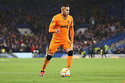 Leo Jaba of PAOK FC (98) dribbling during the Champions League group stage match between Chelsea and PAOK Salonica at Stamford Bridge, London, England on 29 November 2018.