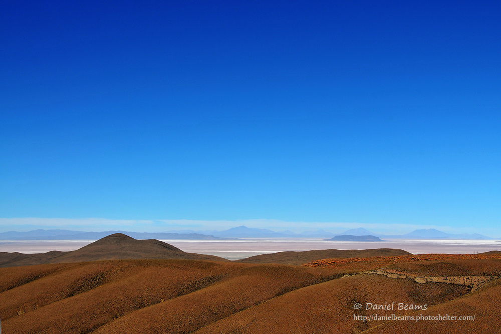 First view of Salar de Uyuni
