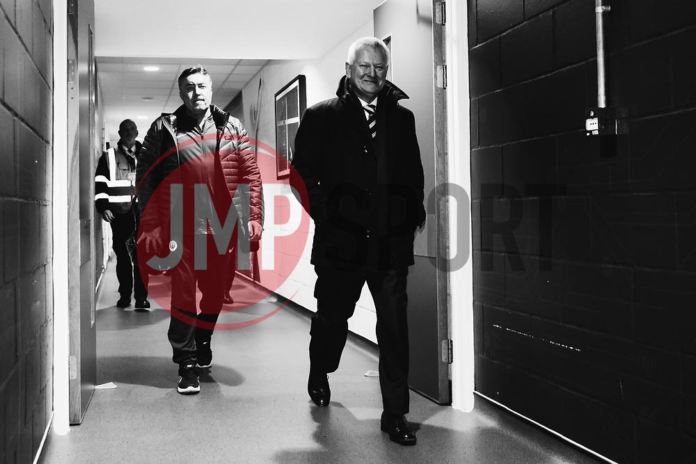 Bristol City makority shareholder Steve Lansdown arrives - Rogan/JMP - 23/01/2018 - Ashton Gate Stadium - Bristol, England - Bristol City v Manchester City - Carabao Cup Semi Final Second Leg.
