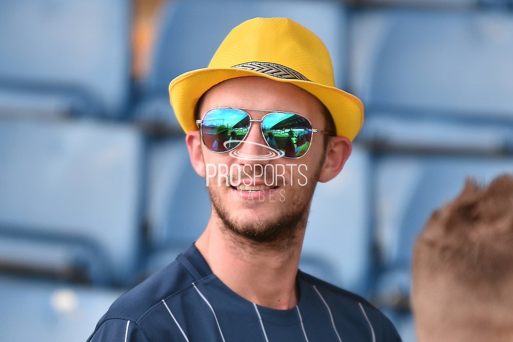 A Southend United fan before the Sky Bet League 1 match between Bury and Southend United at the JD Stadium, Bury, England on 8 May 2016. Photo by Mark Pollitt.
