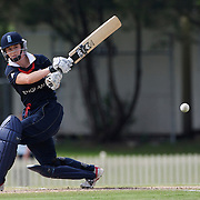 Claire Taylor batting during the match between England and New Zealand in the Super 6 stage of the ICC Women's World Cup Cricket tournament at Bankstown Oval, Sydney, Australia on March 14 2009, England won the match by 31 runs. Photo Tim Clayton